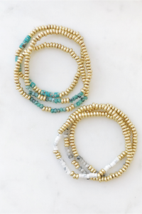 Worn Bead Bracelet Set