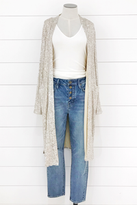 Woven Sequin Duster