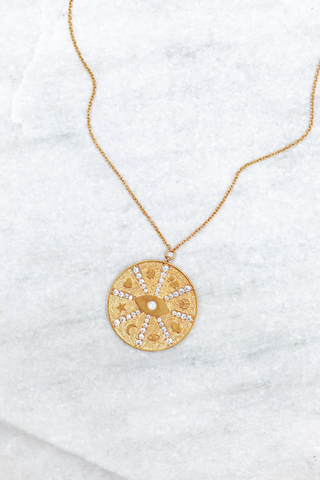 Zodiac Spire Coin Necklace