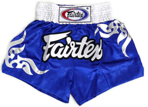"FAIRTEX ""BLUE TRIBAL"" MUAY THAI KICKBOXING SHORTS"