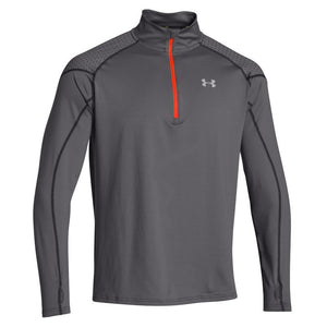 Men's Under Armour Infrared Long Sleeve Heartbeat 1/4 ZIP-1248616-GREY