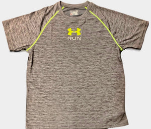 Men's Under Armour Short Sleeve Mileage Twist Running Shirt - 1266020 - Grey