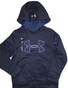 Boy's Under Armour Loose Heat Gear Long Sleeve Pullover Hoodie -1282082 -Navy Blue