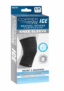 Copper Fit Menthol Infused Compression Ice Knee Sleeve