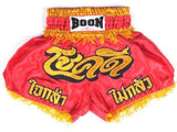 "BOON SPORT ""CHOK DEE RED"" MMA RETRO SHORTS-MT10-RED/YELLOW"