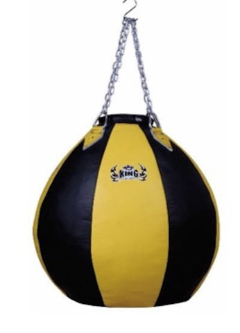 "TOP KING HEAVY BAG ""TEAR DROP LEATHER"" -TKHBT-GL - BLACK/YELLOW"