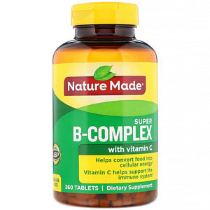 Nature Made Super-B Complex with Vitamin C - 360 Tablets