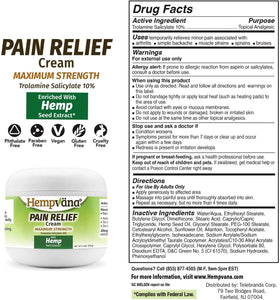 Hempvana Pain Relief Cream for Arthritis - As Seen On TV - 4oz