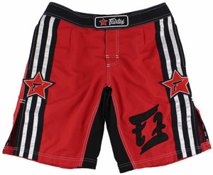 FAIRTEX MMA BOARDSHORTS - AB8 - RED/BLACK