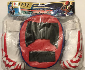"The ""World Champion"" Athletics Sport Series Toy Punching Pad and Gloves Set"
