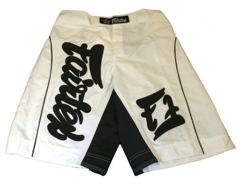 FAIRTEX MMA BOARDSHORTS - AB9 -WHITE COLOR