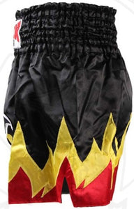 "BOON ""MONSTER NO FEAR FLAMES"" MUAY THAI KICKBOXING SHORTS"