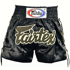 "FAIRTEX ""BLACK LACE"" MUAY THAI KICKBOXING SHORTS"