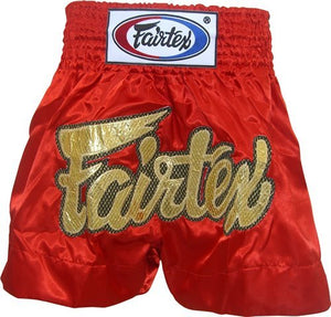 "FAIRTEX ""RED LACE"" MUAY THAI KICKBOXING SHORTS"