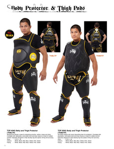 Top King Body and Thigh Protector Set - TKBDTP - Black & Yellow