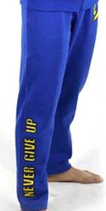 "FAIRTEX BLUE ""NEVER GIVE UP"" SWEATPANTS"