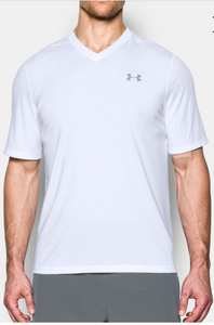 Men's Under Armour Lightweight Loose Fit Short Sleeve tshirt - White - 1291304