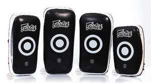 "FAIRTEX ""EXTRA LONG""  MUAY THAI KICKBOXING CURVED THAI PADS"