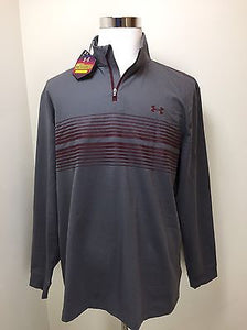 Men's Under Armour Infrared Long Sleeve Heartbeat 1/4 ZIP-1248111-GREY
