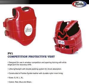 FAIRTEX COMPETITION PROTECTIVE VEST - PV1