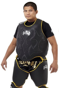 TOP KING BODY AND THIGH PROTECTOR - TKBDTP - BLACK/YELLOW