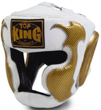 "Top King ""EMPOWER CREATIVITY"" Headgear - TKHGEM-01-GD (WHITE)"