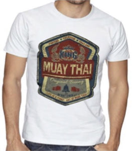TOP KING MUAY THAI BOXING TSHIRT - TKTSH-026-WHITE