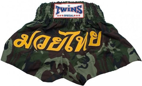 "TWINS SPECIAL ""CAMOUFLAGE"" THAI BOXING SHORTS"