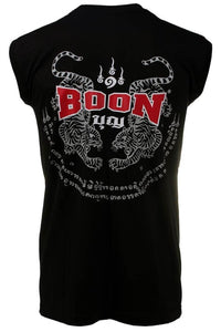"BOON SPORT ""TIGER SAK"" TATTOO SLEEVELESS TSHIRT"