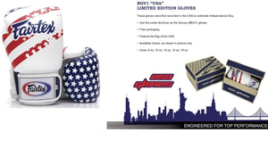 "FAIRTEX ""USA FLAG"" MUAY THAI STYLE TRAINING GLOVES"