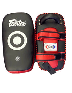 Fairtex Muay Thai Kickboxing Lightweight Thai Pads - KPLC5 - Black/Red