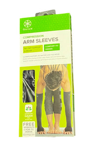 Gaiam Compression Arm Sleeves - All Day Support & Relief Comfort Fit Design - 18 Inches Long