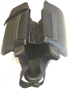 TOP KING ABDOMINAL PROTECTOR GENUINE LEATHER - TKAPG-GL - Black