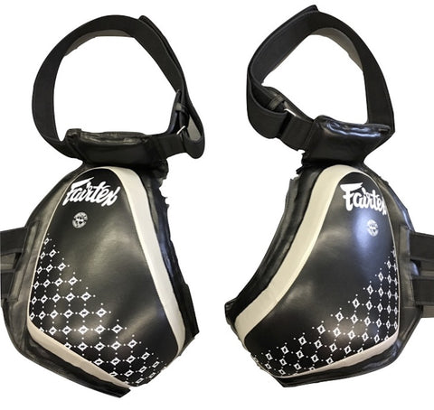 FAIRTEX COMPACT THIGH PAD - TP4 - BLACK AND GREY COLOR
