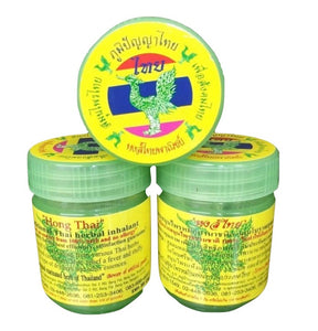 HERBAL INHALANT HONG THAI INHALANT RELIEF DIZZINESS - SALE SET OF 3 20G BOTTLES