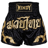 WINDY MUAY THAI KICKBOXING SHORTS - WMTS - SATIN