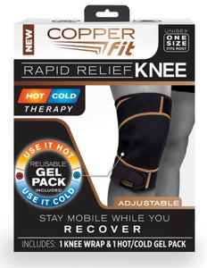 Copper Fit Rapid Relief Knee Wrap - Hot/Cold Therapy