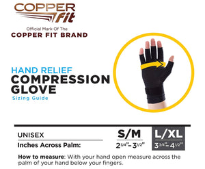 Copper Fit Hand Relief Compression Gloves, As Seen on TV