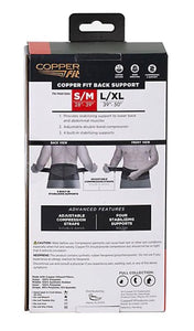 Copper Fit Copper Infused Back Pro Compression & Support