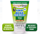 Hempvana Cold As Ice Clear Pain Relief Gel 4 Oz.