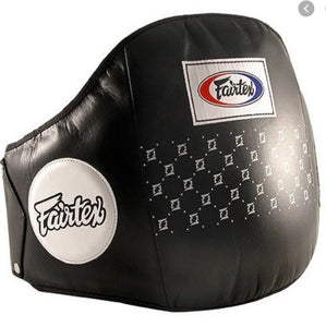 FAIRTEX PRO LEATHER BELLY PAD - BPV1 - Designed for Punches, Hooks, Foot Jabs, Knees & Combinations