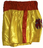 "MUAY KICKBOXING ""THAI BOXING"" SHORTS -TBS-YELLOW/RED"