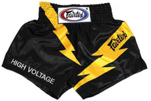 "FAIRTEX ""HIGH VOLTAGE"" MUAY THAI KICKBOXING SHORTS"