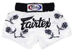 "Fairtex ""BLACK ROSES"" Muay Thai Kickboxing Shorts - BS0659"