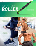 PharMeDoc Muscle Roller Massage Stick for Fitness - Black and Green Color