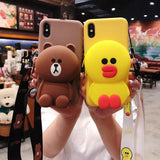 Cartoon Storage Phone Case For iPhone/Samsung