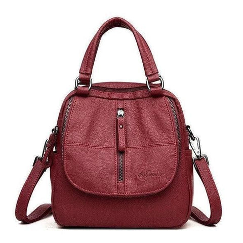 2020 new Fashion Leather Multipurpose Backpack Shoulder Handbag -50% Off To Celebrate The New Year