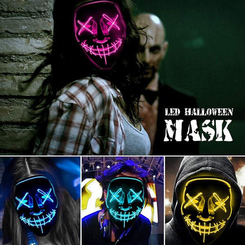 (Big Sale Today)LED Halloween Purge Mask