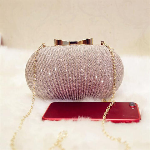 Women Evening Clutch Bag Shiny Handbags
