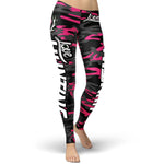 Love Hunting Dark Pink Camo Leggings